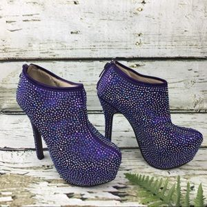 Kiss Kouture High Heels  Ankle Booties Size 6